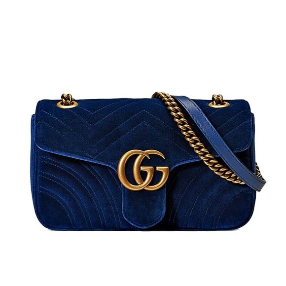 Gucci Handbags - Gucci GG Marmont Velvet Shoulder Bag
